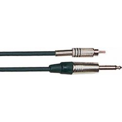 CABLE DE AUDIO MULTIAPLICACION Macho RCA - macho mono metal 1/4'' - 3 m.